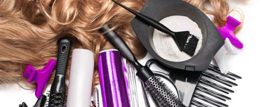 Hairdresser's medicines, tools and accessories